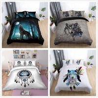 3D Boho Dreamcatcher Wolf Duvet Cover Comforter Cover Bedding Set Pillowcase Set