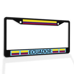 Metal License Plate Frame Vinyl Insert Ecuador Flag Weatherproof Car Accessories