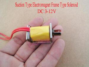 New DC 3V-12V Micro Inhaled Suction Type Electromagnet Frame Type Solenoid DIY