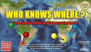 Wild Card Games Who Knows Where? - The Global Location Guessing Family Board ...