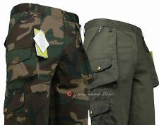 Pantaloni uomo militare follow me calzoni MULTITASCE mimetico Cargo caccia pesca