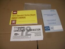 Vintage 1972 Chevrolet Chevy Station Wagon Glove box Owner's Manual & Emissions