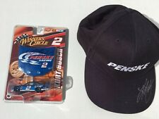 Signed Kurt Busch 1/64 -NASCAR Winner's Circle Diecast Car & Penske Hat #2 Lite