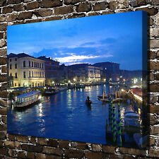 The canal of blue sky Paintings HD Print on Canvas Home Decor Wall Art Pictures