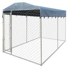 vidaXL Hundezwinger mit Überdachung 4 x 2 m Hundehütte Hundekäfig Sonnendach