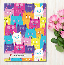A5 Diet Diary Food Diary Weight Loss Journal Slimming World Compatible Cat Multi