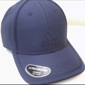 ADIDAS Trefoil Trucker/Contract Cap Mystery Blue /Scarlet Aeroready Drying Tech