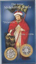 GN281 - Österreich 50 Schilling 1996 im Original Blister 1000 Jahre Ostarrichi