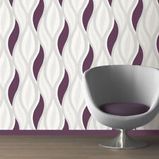 Purple Glitter Wallpaper Waves Silver White Quality Textured Vinyl Feature X 4