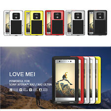 LOVE MEI Aluminum Metal Cover For SONY XA2 Ultra Protective Bumper Silicone Case