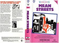 MEAN STREETS - Martin Scorsese -VHS -PAL -NEW-Never played!- Original Oz release