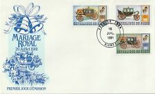 1981 Niger FDC cover Royal Wedding Lady Diana and Prince Charles