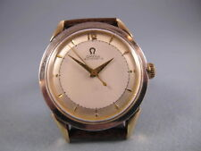 OMEGA RARE 2 TONE REF 2577 BUMPER 351 AUTOMATIC MENS SWEEP SECONDS WATCH