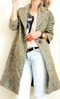 ZARA NEW BOUCLE LONG MASCULINE COAT SIZE XS