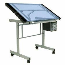 Glass Drafting Table Station Painting Drawing Design Art Supplies Desk Bedroom N