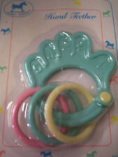 Teether & Rattle By Hobby Horse, Hand W/Rings, Mint, Brand New