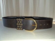 "New Women's MICHAEL KORS Brown Medium 2 1/2"" Wide Leather Belt 42"" Long"