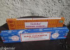 2 boites de bâtons d'encens Nag Champa Agarbathi  Satya Sai Baba et Goloka