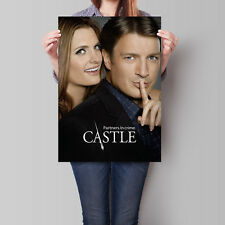 Castle Poster TV Series Nathan Fillion Stana Katic 16.6 x 23.4 in (A2)