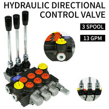 13GPM Hydraulic Directional Control Valve Tractor Loader 3 Spool,w/ Joystick,