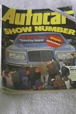 October Autocar Cars, 1980s Transportation Magazines