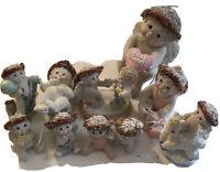 Dreamsicles Cast Art Lot of 10 Figurine Kristin Cherubs 1993-1996 NO Box