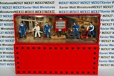FIGURINES REEDITION HORNBY ATLAS : COFFRET 5 FIGURINES STATION SERVICE ESSO 1/43