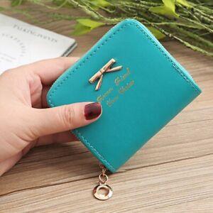Women Bowknot Small Coin Purse Card Zipper Wallet Holder Mini Bag Handbag Clutch