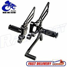 Black CNC Adjustable Rearsets Foot pegs Rear sets For Ducati 748 999 916 996 998