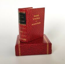 Communist Manifesto 1975 Mini Book Hardcover Karl Marx Engels USSR German