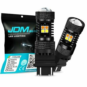 JDM ASTAR 3157 LED Dual Color Switchback 3030SMD White Amber Turn Signal Lights