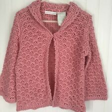 Mary Kate and Ashley Sweater Pink Open Knit Long Sleeve Size 24 Months