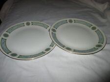 "2 Ridgway Palazzo Blue Earthenware 10"" 25cm Dinner Plates 1950s"