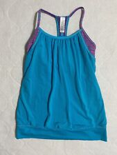 IVIVVA by Lululemon Girls Size 14 Double Dutch Tank Top Teal Layered Racerback