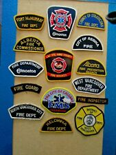 Souvenir Collection of  Fire & Rescue Patches