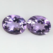 Natural Purple Amethyst Loose Gemstone Oval Cut Pair For Earrings Use 5.50 Cts