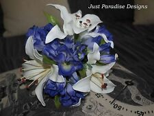 Artificial Wedding Bouquet - Silk Flower- Maids Posy - Lilly and Lissy