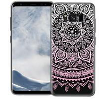 Schutz Hülle Samsung Galaxy S8 Hülle Silikon Handy Tasche Mandala Case Cover