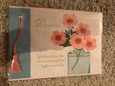 "NIP Papyrus Happy Graduation Card ""Daughter"" $5.95 Pink Tassel Floral Congrats"