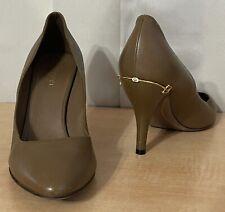 Gucci Brown Leather Horsebit Women's Pumps Shoes Sz.38.5/ 8.5