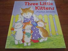 (E546)ALTES KINDERBUCH THREE LITTLE KITTENS MARILYN JANOVITZ IN ENGLISCH EA 1994
