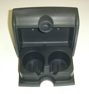 04-08 Ford F150 F-150 Rear Jump Seat Dual Cup holder w/12v Outlet DARK GREY
