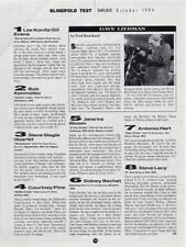 Dave Liebman Miles Davis Downbeat Clipping