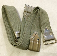 US WWII THOMPSON SMG WEB SLING (BRASS FITTINGS) - Reproduction