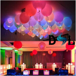 LED Balloons Light Up Glow PERFECT PARTY Decoration Wedding Birthday Valentines