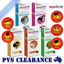Bravecto for Dogs - All Sizes Yellow Orange Green Blue Purple - Single Chew