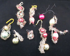 Vintage Handmade Garland And Bulb Ornaments Or String Ornament Set *