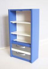 PLAYMOBIL (K1124) POLICE - Armoire Bleue 2 Etagères 2 Tiroirs Gris 3954 3957