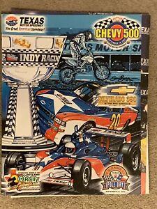 Texas Motor Speedway 2001 Postponed Chevy 500 Indy Racing Program ROBBIE KNIEVEL