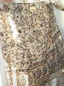 New Women's Emanuel Ungaro Cotton Skirt Size 8/42 Petite Breezy Lightweight Wrap